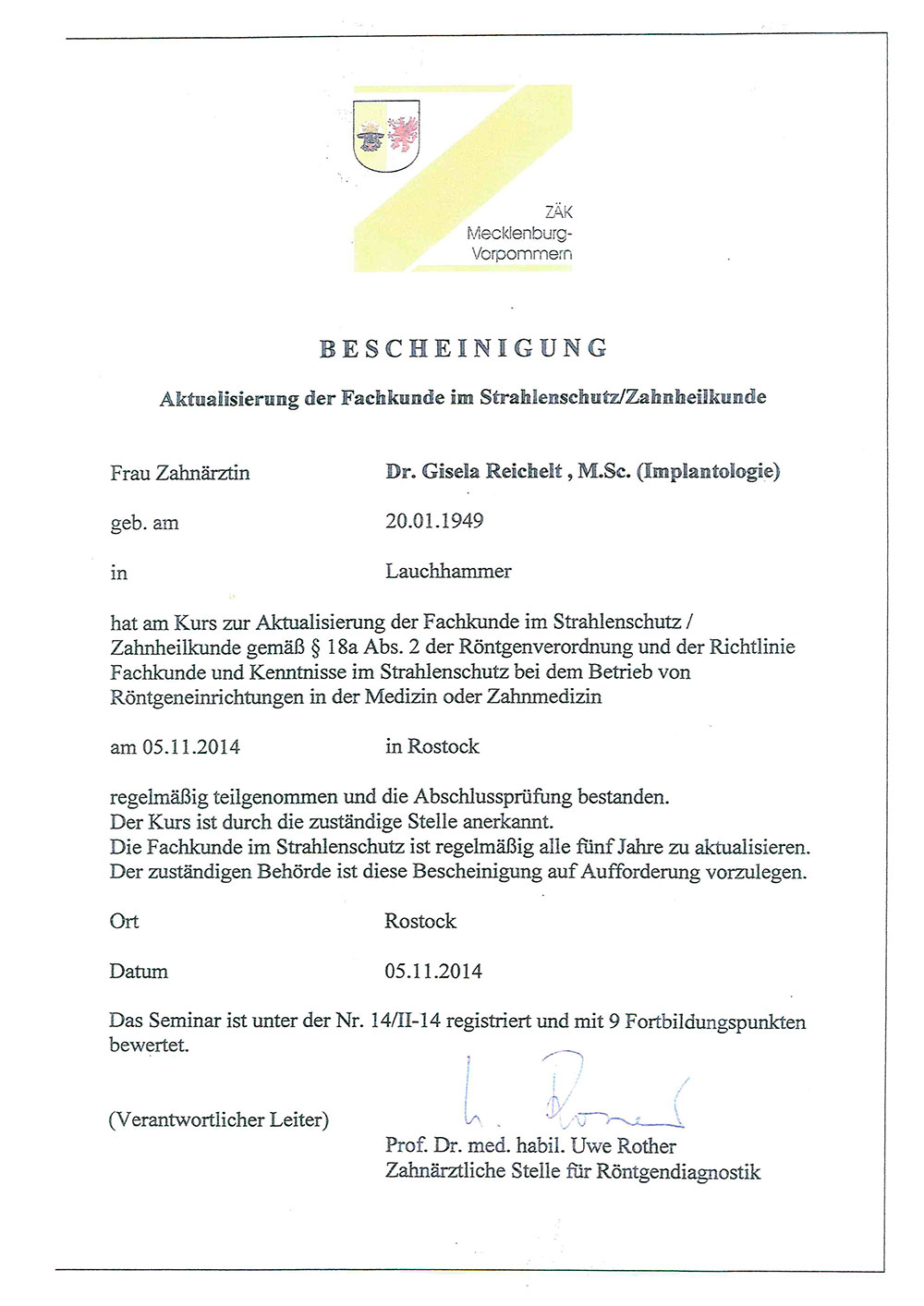 Bescheinigung-Strahlenschutz-Reichelt-II