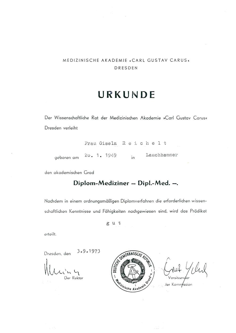 Urkunde-Reichelt