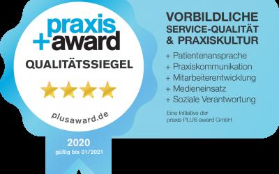 PRAXIS + AWARD AUSZEICHNUNG 2020